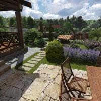 идея использования необычных растений в ландшафтном дизайне дома картинка