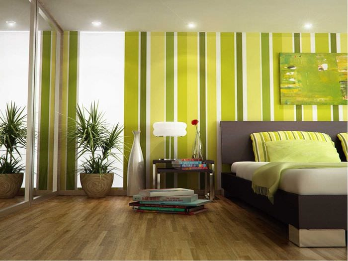 идея использования зеленого цвета в красивом дизайне комнаты