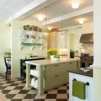 вариант применения зеленого цвета в светлом декоре комнаты картинка
