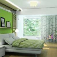 идея использования зеленого цвета в светлом дизайне квартиры картинка