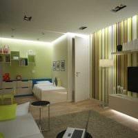 идея необычного интерьера двухкомнатной квартиры в хрущевке фото
