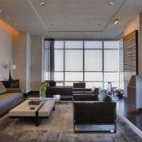 идея яркого интерьера гостиной в частном доме фото