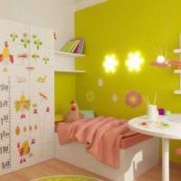 идея необычного дизайна детской комнаты для девочки 12 кв.м фото