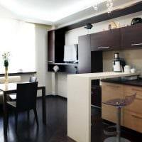 вариант красивого дизайна кухни 14 кв.м фото