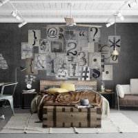 идея светлого декора квартиры с росписью стен картинка