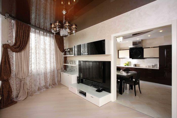 вариант красивого стиля квартиры студии