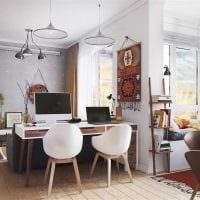 вариант необычного стиля малогабаритной комнаты фото
