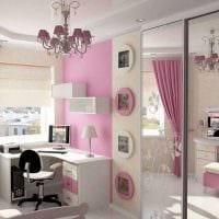 идея яркого дизайна спальни для девочки в современном стиле картинка