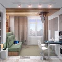 вариант необычного интерьера двухкомнатной квартиры картинка