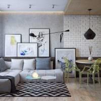 идея красивого стиля двухкомнатной квартиры в хрущевке фото