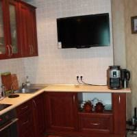вариант необычного интерьера кухни 14 кв.м картинка