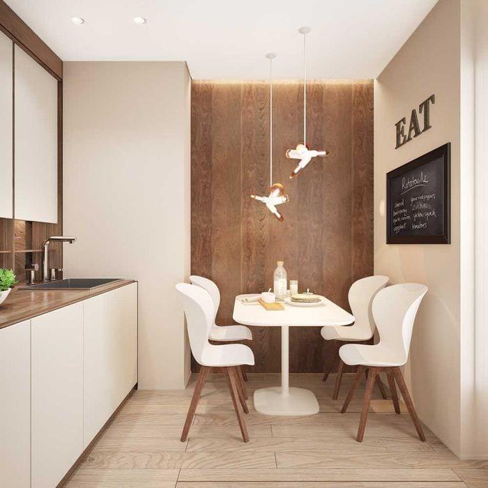 идея яркого дизайна кухни 8 кв.м