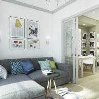 вариант необычного дизайна квартиры студии картинка
