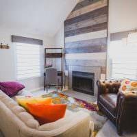 идея яркого интерьера маленькой комнаты картинка