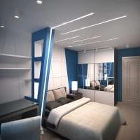 вариант светлого декора спальни для молодого человека картинка