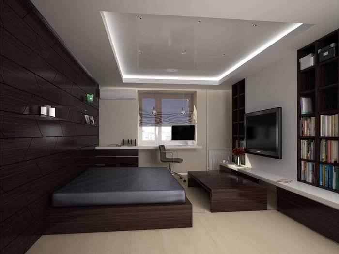 идея необычного стиля спальни для молодого человека