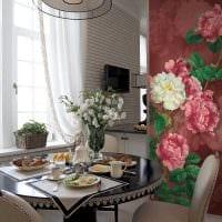 вариант необычного стиля квартиры с росписью стен картинка