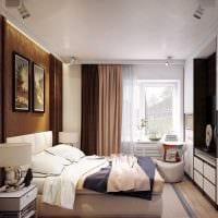 вариант яркого дизайна спальни гостиной фото