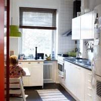 вариант красивого дизайна кухни 8 кв.м фото