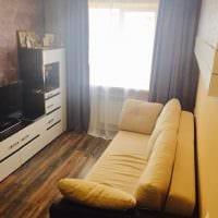вариант необычного декора небольшой комнаты в общежитии фото