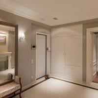 вариант необычного дизайна современной прихожей комнаты фото