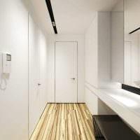 вариант красивого интерьера современной прихожей комнаты фото