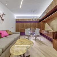 вариант светлого декора спальни гостиной картинка