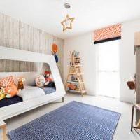 пример светлого современного стиля детской комнаты фото