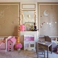 вариант светлого стиля комнаты для девочки 12 кв.м картинка