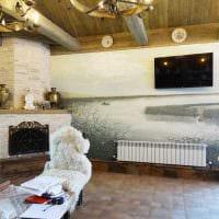 идея светлого декора квартиры с росписью стен фото