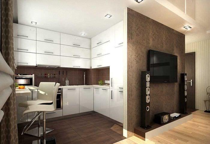 идея необычного декора двухкомнатной квартиры в хрущевке