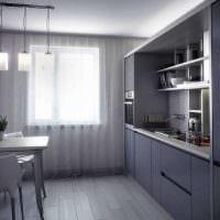 пример красивого дизайна кухни 14 кв.м картинка