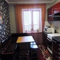 идея светлого интерьера кухни 9 кв.м картинка