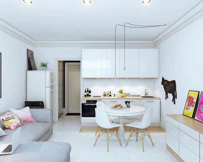 вариант красивого дизайна квартиры