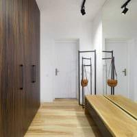 вариант светлого дизайна современной прихожей комнаты фото