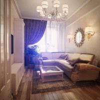 вариант яркого декора гостиной спальни 20 кв.м. картинка