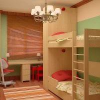 идея яркого дизайна детской комнаты для двоих детей картинка