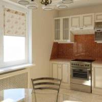 пример яркого стиля кухни 8 кв.м фото