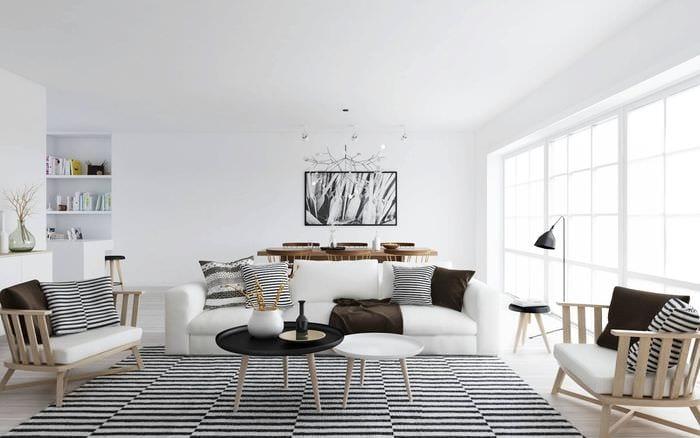 вариант необычного дизайна комнаты в скандинавском стиле