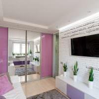 идея красивого декора малогабаритной комнаты фото