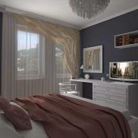 вариант красивого стиля спальни гостиной картинка