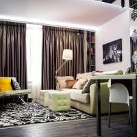 вариант красивого дизайна спальни гостиной 20 кв.м. картинка