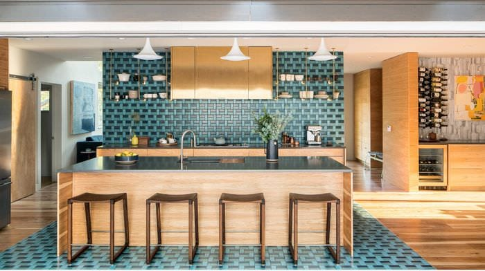 вариант необычного дизайна гостиной