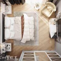 вариант светлого интерьера комнаты в скандинавском стиле фото