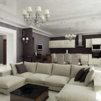 вариант светлого стиля квартиры фото