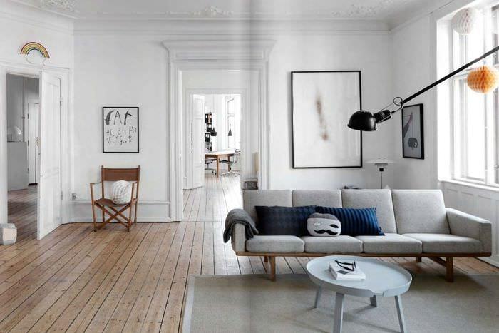 идея необычного интерьера комнаты в скандинавском стиле