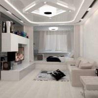идея необычного стиля малогабаритной комнаты фото