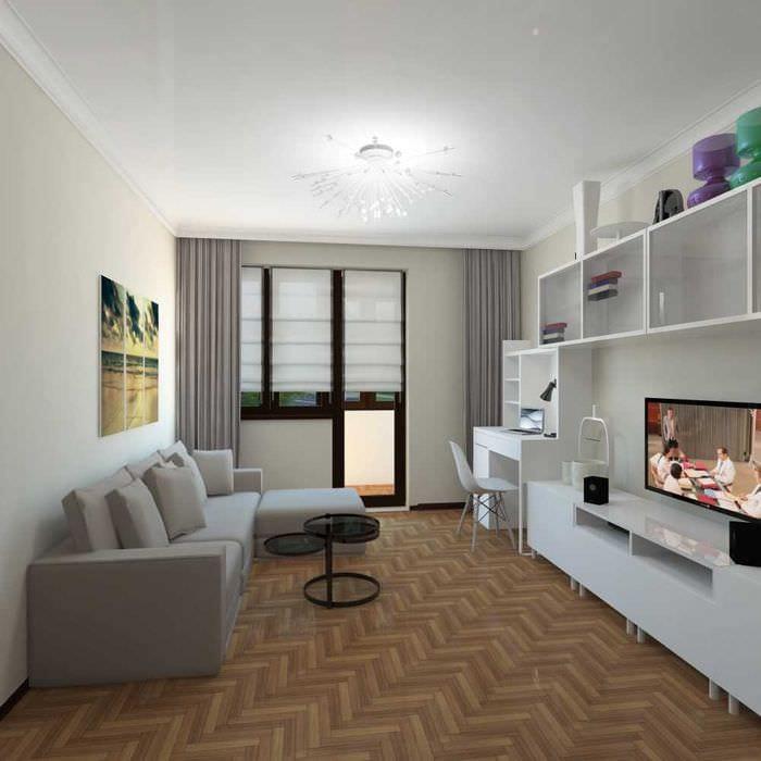 вариант яркого дизайна детской комнаты 18 кв.м.