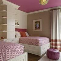вариант красивого интерьера детской комнаты для двоих детей фото