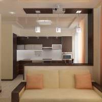 идея необычного интерьера двухкомнатной квартиры фото